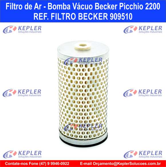 Filtro de Ar - Bomba Vácuo Becker / 909510
