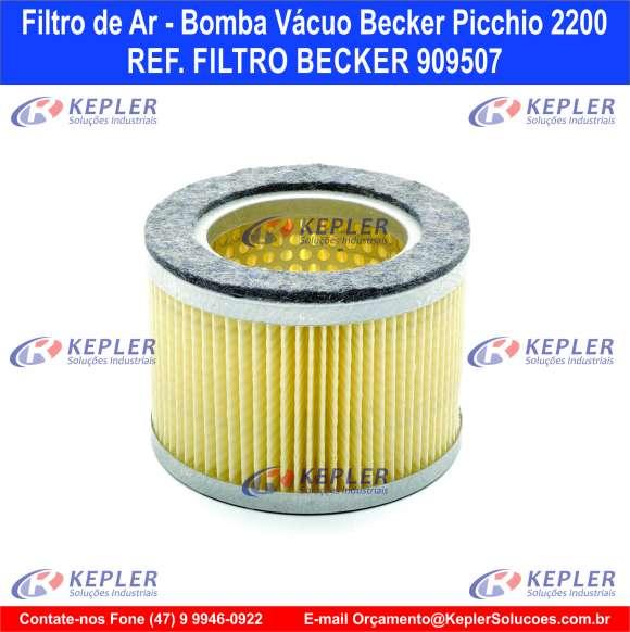 Filtro de Ar - Bomba Vácuo Becker / 909507